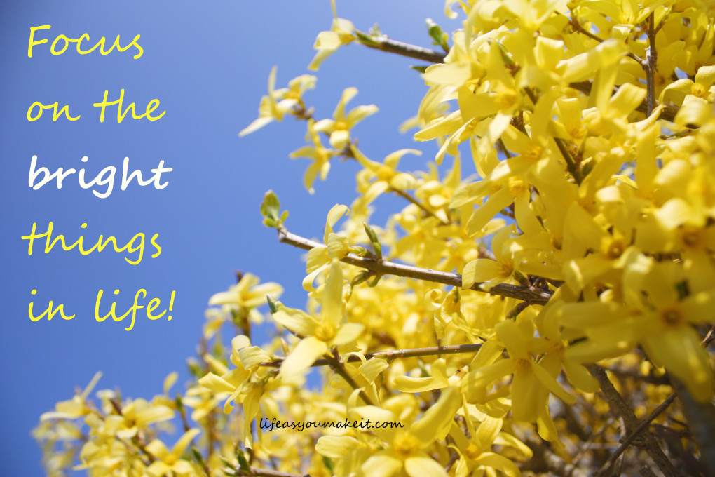 Focus on the bright things in life!