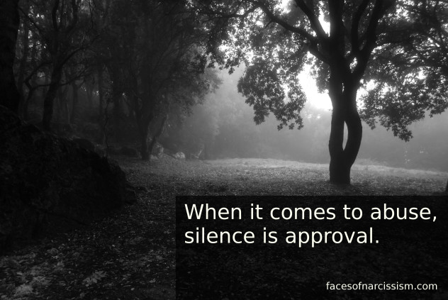 When it comes to abuse, silence is approval.