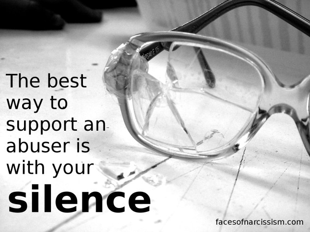 The best way to support an abuser is with your silence